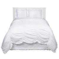 Simply Shabby Chic?- Smocked Duvet Set - White : Target