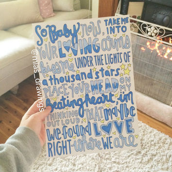 Thinking Out Loud - Ed Sheeran lyric art