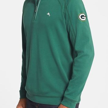 Men's Tommy Bahama 'Green Bay Packers - NFL' Quarter Zip Pima Cotton Sweatshirt