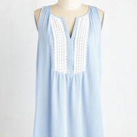 ModCloth Americana Long Sleeveless Faraway Fables Tunic