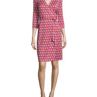 Diane von Furstenberg New Julian Two Zen Flora Wrap Dress, Pink