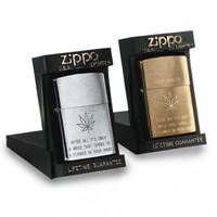 Zippo Lighter- Steel - Lighters - Smoking Accessories - Grasscity.com