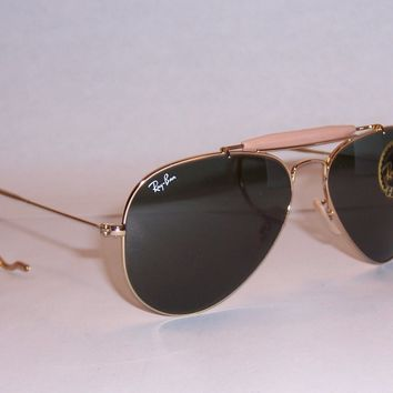 NEW RayBan Sunglasses Outdoorsman 3030 L0216 Gold/Green 58MM AUTHENTIC