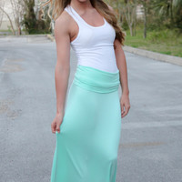 Feel Good Maxi Skirt - Mint
