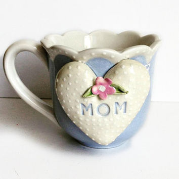 Pretty Personalized Tea Cup For Mom - Personalized Mothers Cup - Valentine Teacup - Valentine Gift For Mother -  Shabby Chic Tea Cup