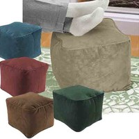 Sueded Cube Ottoman/ Footstools | Overstock.com Shopping - The Best Deals on Bean & Lounge Bags