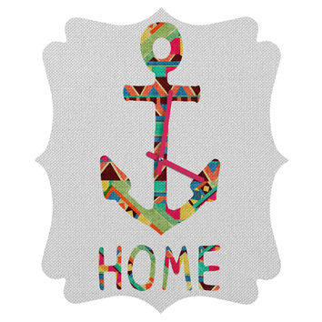 Bianca Green You Make Me Home Quatrefoil Clock