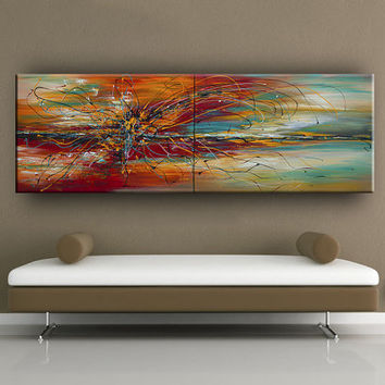 Original Acrylic Abstract Landscape Painting Modern ABSTRACT PAINTINGS Art for Sale LARGE Abstract fine art By Nandita Albright