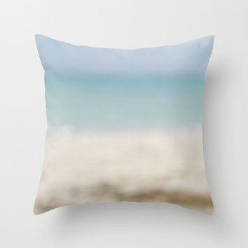 Abstract Ocean Pillow Cover - Ocean Pillow Cover - Beach Pillow Cover - Landscape Pillow Cover - Ocean Photography - Beach Photography