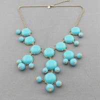JCREW Inspired Bubble Necklace - Turquoise  from Her Vanity Affair