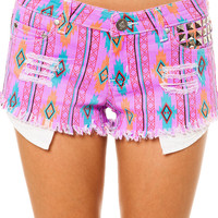 Purple The Aztec Shorts by Reverse