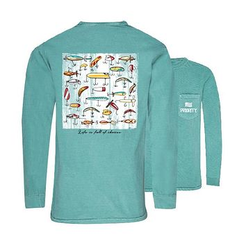 Southern Couture Priority Lure Choices Fishing Pocket Unisex Long Sleeve T-Shirt