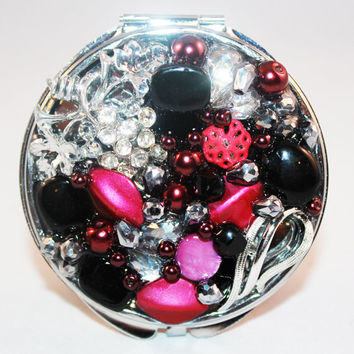 Compact Mirror Vintage Jewelry