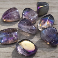 Rainbow Aura Amethyst - All-Purpose Spiritual Stone - Communicate With Angels & Spirit Guides