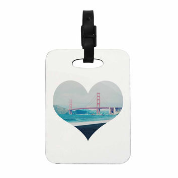 "Chelsea Victoria ""San Francisco Love"" Coastal Blue Decorative Luggage Tag"