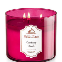 Cranberry Woods 3-Wick Candle - White Barn | Bath And Body Works