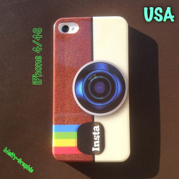 Instagram iPhone 4 4S cover Instagram art full side printing case for iPhone 4 4S