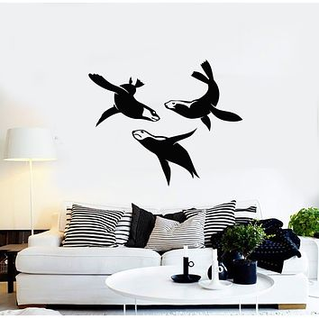 Vinyl Wall Decal Fur Seals Ocean Sea Animals Decor For Bathroom Stickers Mural (g710)
