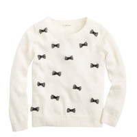 GIRLS' ALLOVER BOWS SWEATER
