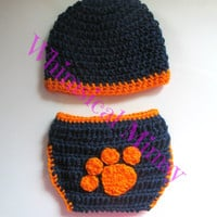 Crochet Auburn Inspired Newborn Hat and Diaper Cover Set Photo Prop