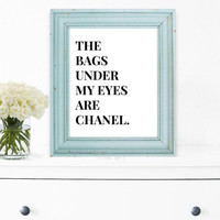Chanel Wall Decor, Art Print, Typography Wall Art, Motivational Print, Inspirational Poster, Teen Gift Ideas, Shabby Chic  - PT0014