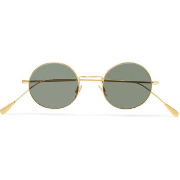 Cutler and Gross - Round-Frame Gold-Tone Sunglasses | MR PORTER