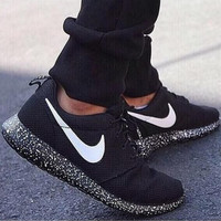 NIKE Women Men Running Sport Casual Shoes Sneakers Black starry sky soles