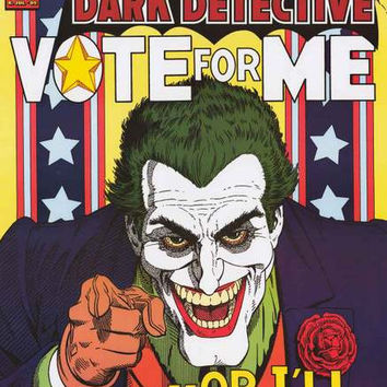 Batman Vote for The Joker Poster 24x36