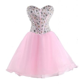 MerMaid Women's Prom Ball Gown Pageant Dress Color Pink Size 12