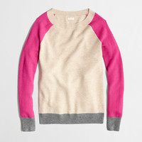 FACTORY WAFFLE SWEATER IN COLORBLOCK