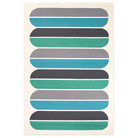 Jaipur Grant Design Oblong Indoor/Outdoor Rug in Blue/Green