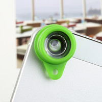 1pcs green Jelly Lens Fish Eye  for iPhone Cell Phone Digital Lomo Camera Free / Drop Shipping Hot New