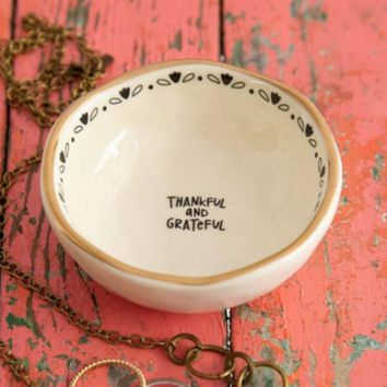 Thankful & Grateful Trinket Dish