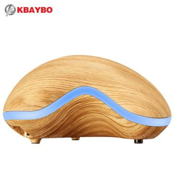 150ml Aroma Essential Oil Diffuser Wood Grain Ultrasonic Cool Mist Humidifier for Office