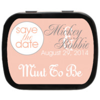 Peach Personalized Save the Date Mint Tins for Candy Favors, Party Favors