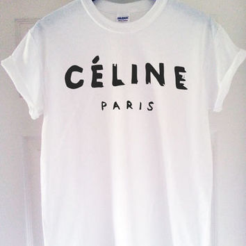celine paris t shirt tee shirt rihanna tour comme hype geek tee shirt top ***
