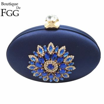 Women's Fashion Handbags Flowers Appliques Crystal Black Evening Bag Clutches Purses Wedding Party Cocktail Hard Case Clutch Bag