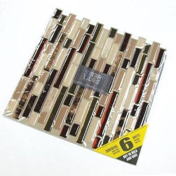 Smart Tiles 10.13 in. x 10 in. Peel and Stick Bellagio Mosaik (6-Pack)-SM1034-6 at The Home Depot