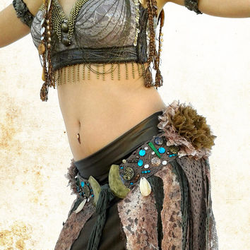 Tribal Fusion Bra, Tribal  Belly Dance Top, Bellydance Costume, Tribal Bra