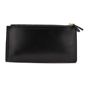 Men Women Business Long Zipper Wallet Large Capacity Cards Coins Purse
