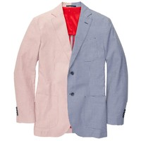 Gentleman's Jacket in Red Stripe and Blue Gingham by Southern Proper - FINAL SALE