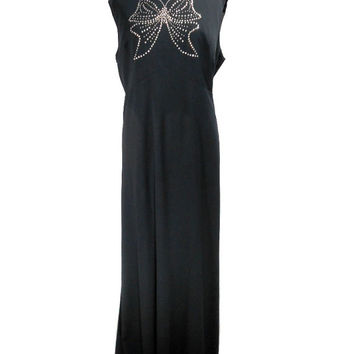 1960s Lane Bryant Butterfly Maxi Dress / Plus Size / Mad Men / Formal Prom Evening Gown / Womens Vintage Dress / Size 20.5