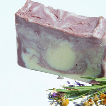 cold processed soap, cold process soap bar, lavander and camomille soap bar, vegan soap bar, cruelty free skin care, palm free soap