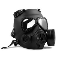 Paintball Tactical Airsoft Full Face Protection Mask W/ Goggles Black M04
