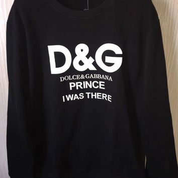 D&G Dolce&Gabbana Casual Long Sleeve Sport Top Sweater Pullover