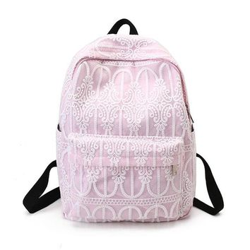 University College Backpack Sweet Canvas Embroidery Lace  Women Canvas Daily  Fresh Style  Students School Bags Rucksack nbxq193AT_63_4