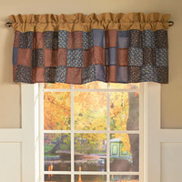 "Abigail Window Valance Quilt Printed Pattern  60""x 18"" Bedroom Window Home Decor"