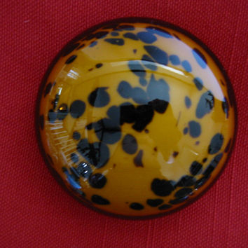 Leopard Design Hand Blown Modern Glass Paperweight