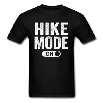 Hiking Shirt Combat Hike Mode On 2018 Vintage Letter Print Men Black T Shirt Man's Cotton Top Holiday Custom Casual T-shirt Group Tee Shirts KO_15_1
