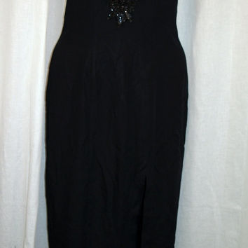 Jump Apparel black sequin evening dress